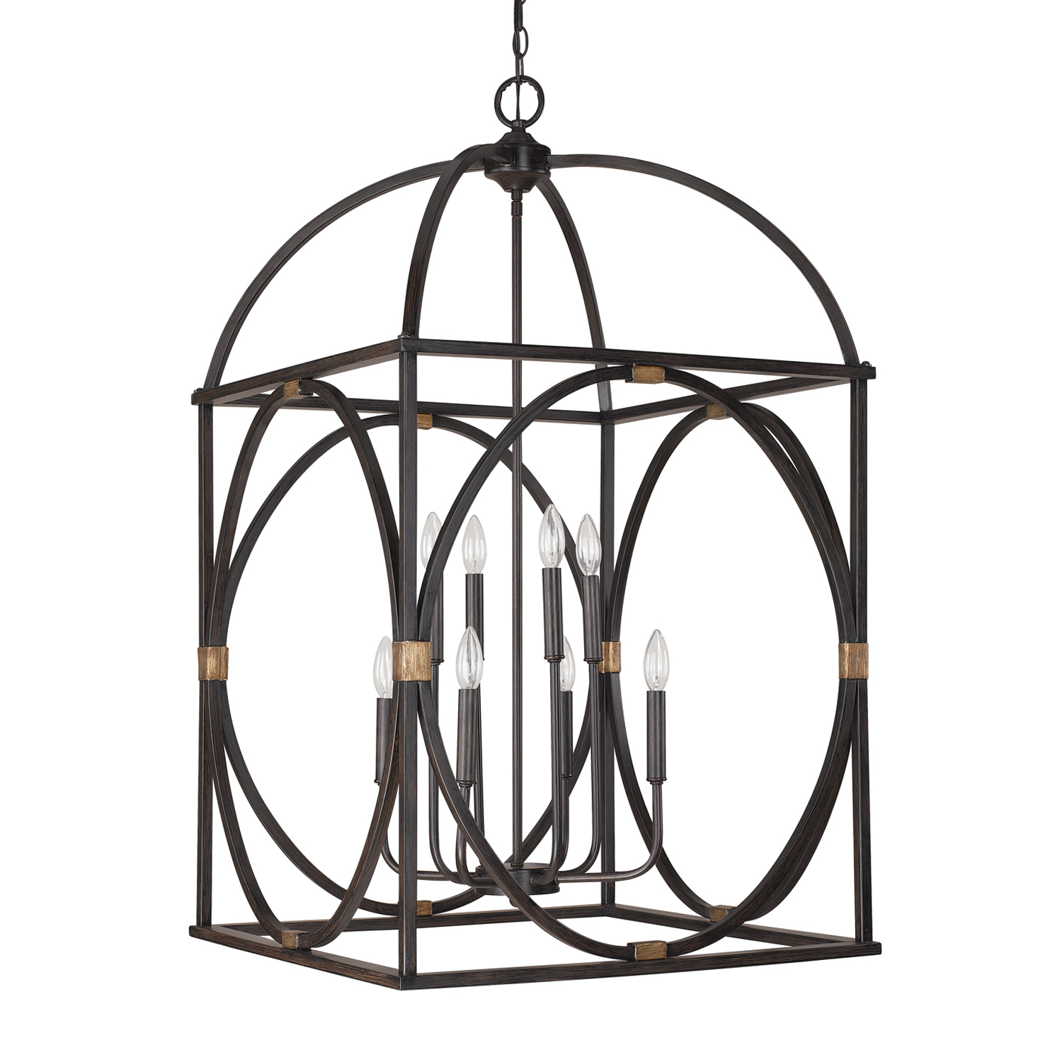 Eight Light Foyer from the Foyer collection by Capital Lighting 4523SY