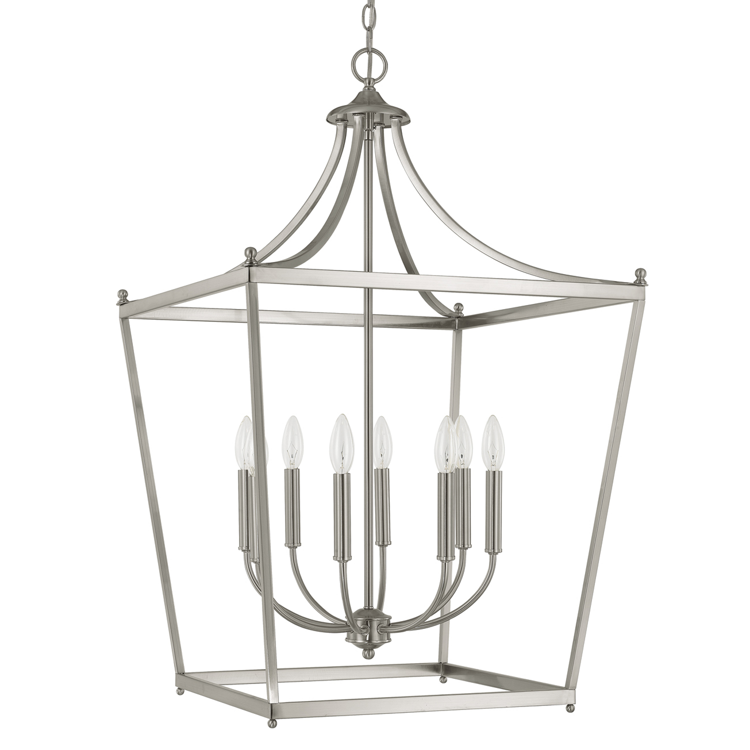 Eight Light Foyer from the Stanton Brushed Nickel collection by Capital Lighting 9553BN