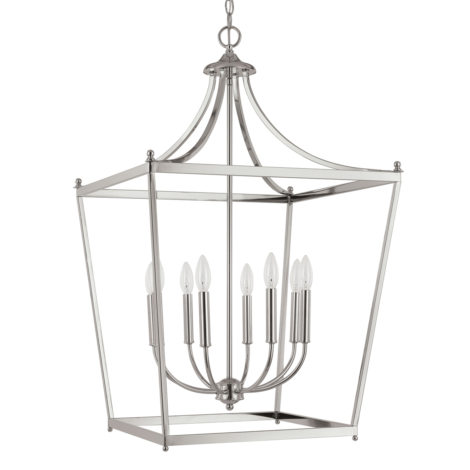 Eight Light Foyer from the Stanton Polished Nickel collection by Capital Lighting 9553PN