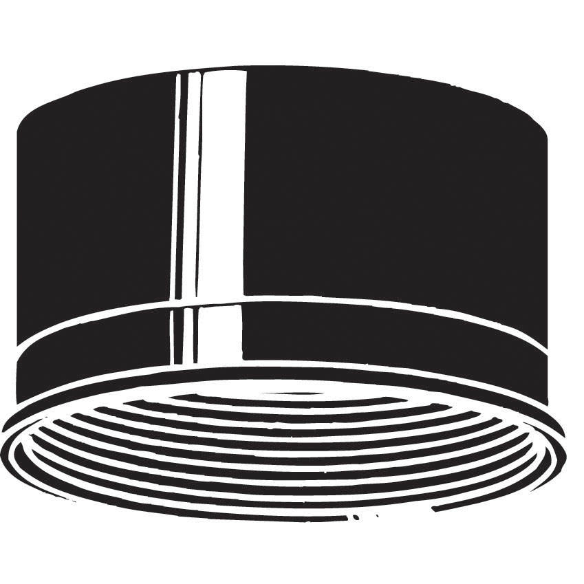 Baffle from the Accessory collection by Kichler 9544BK