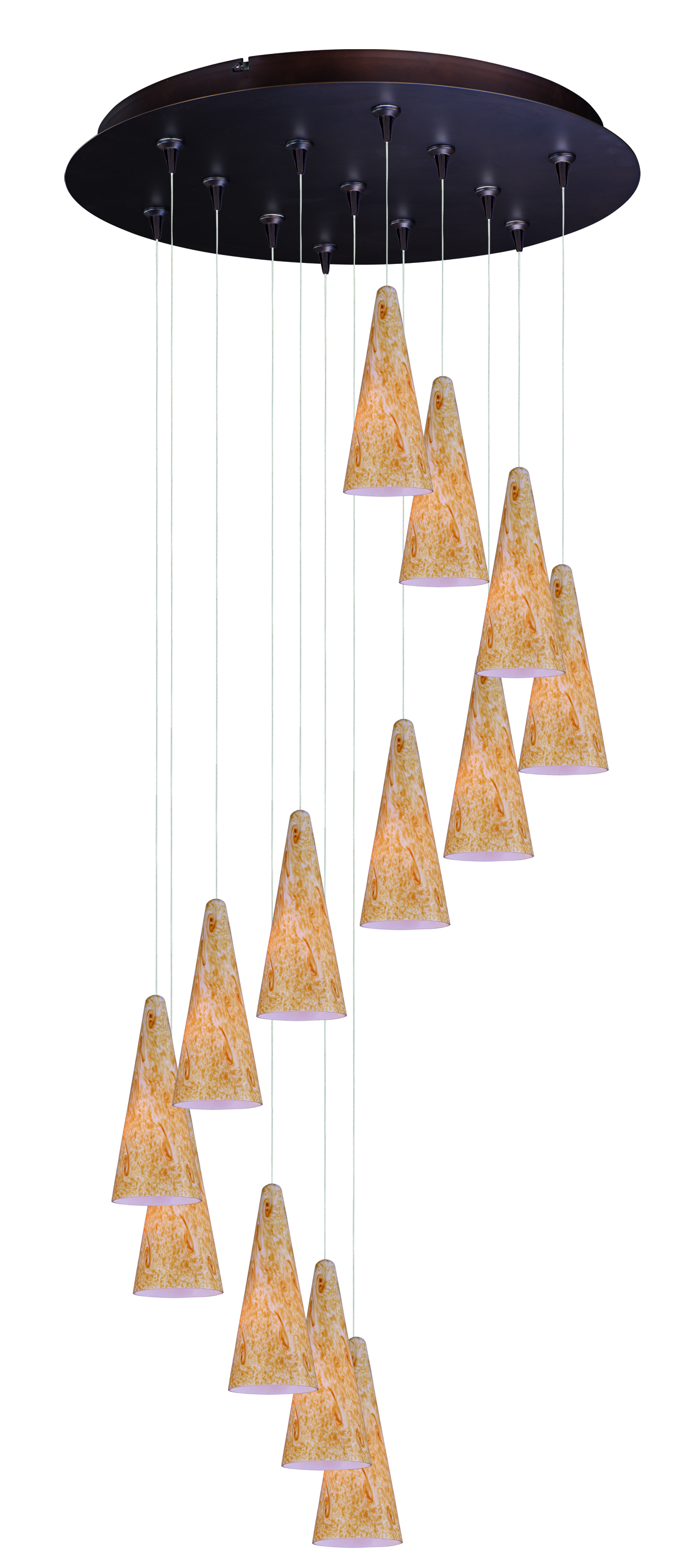 13 Light Pendant from the Lava collection by ET2 E93830 103BZ