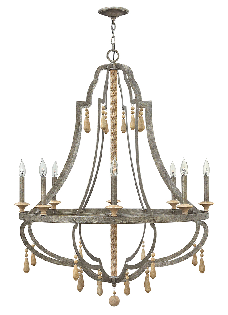 Eight Light Foyer Pendant from the Cordoba collection by Fredrick Ramond FR42288DIR