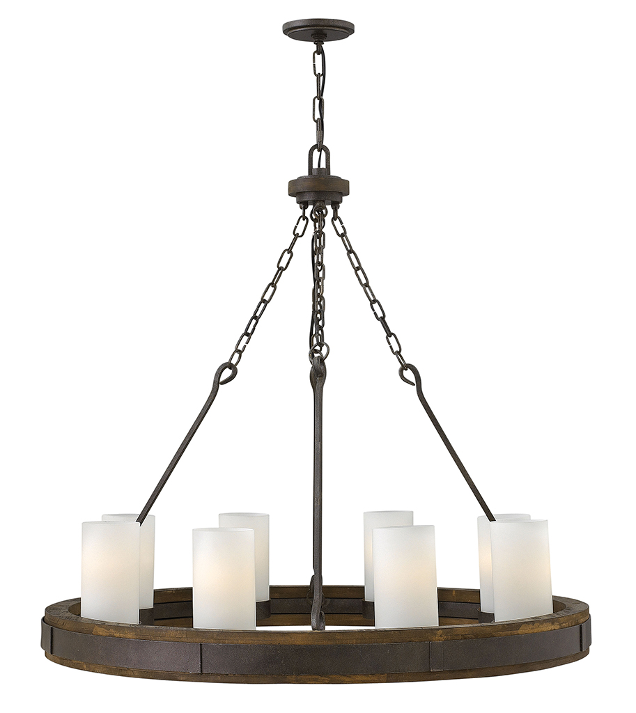 Eight Light Foyer Pendant from the Cabot collection by Fredrick Ramond FR48439IRN