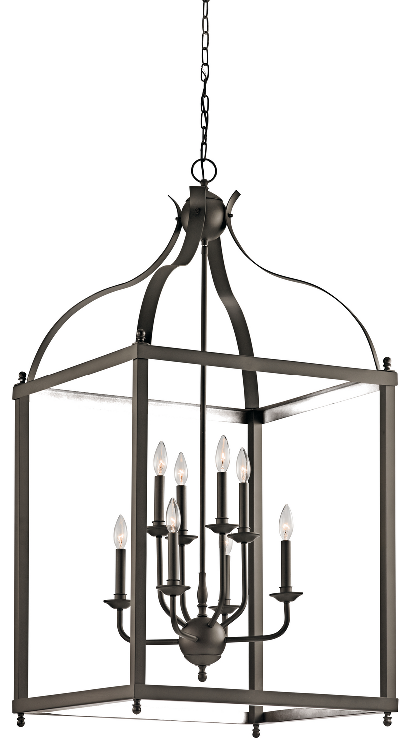 Eight Light Foyer Chandelier from the Larkin collection by Kichler 42591OZ