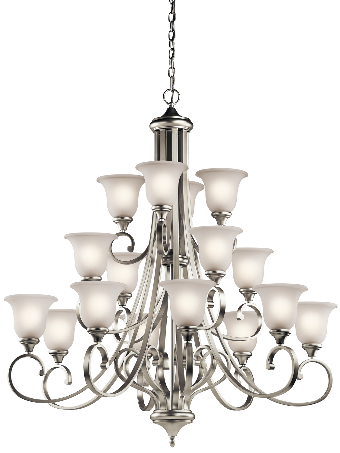 16 Light Chandelier from the Monroe collection by Kichler 43192NI