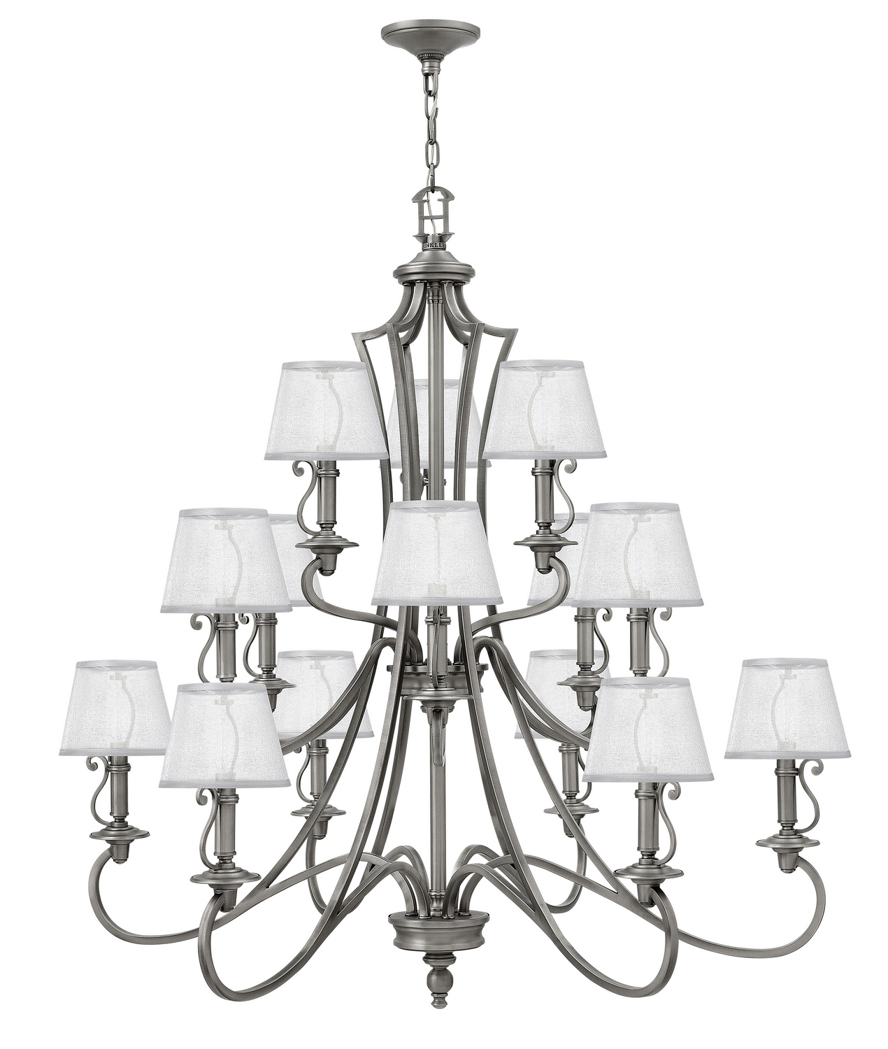 15 Light Foyer Pendant from the Plymouth collection by Hinkley 4249PL