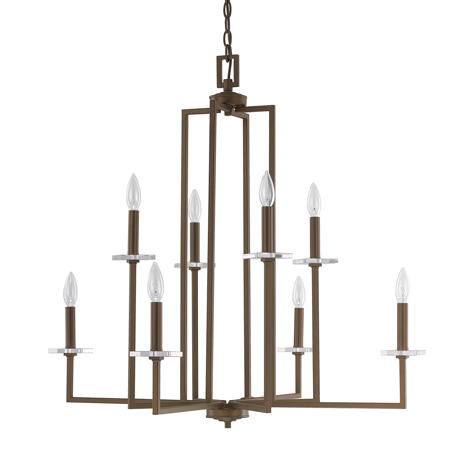 Eight Light Chandelier from the Morgan collection by Capital Lighting 4818BB