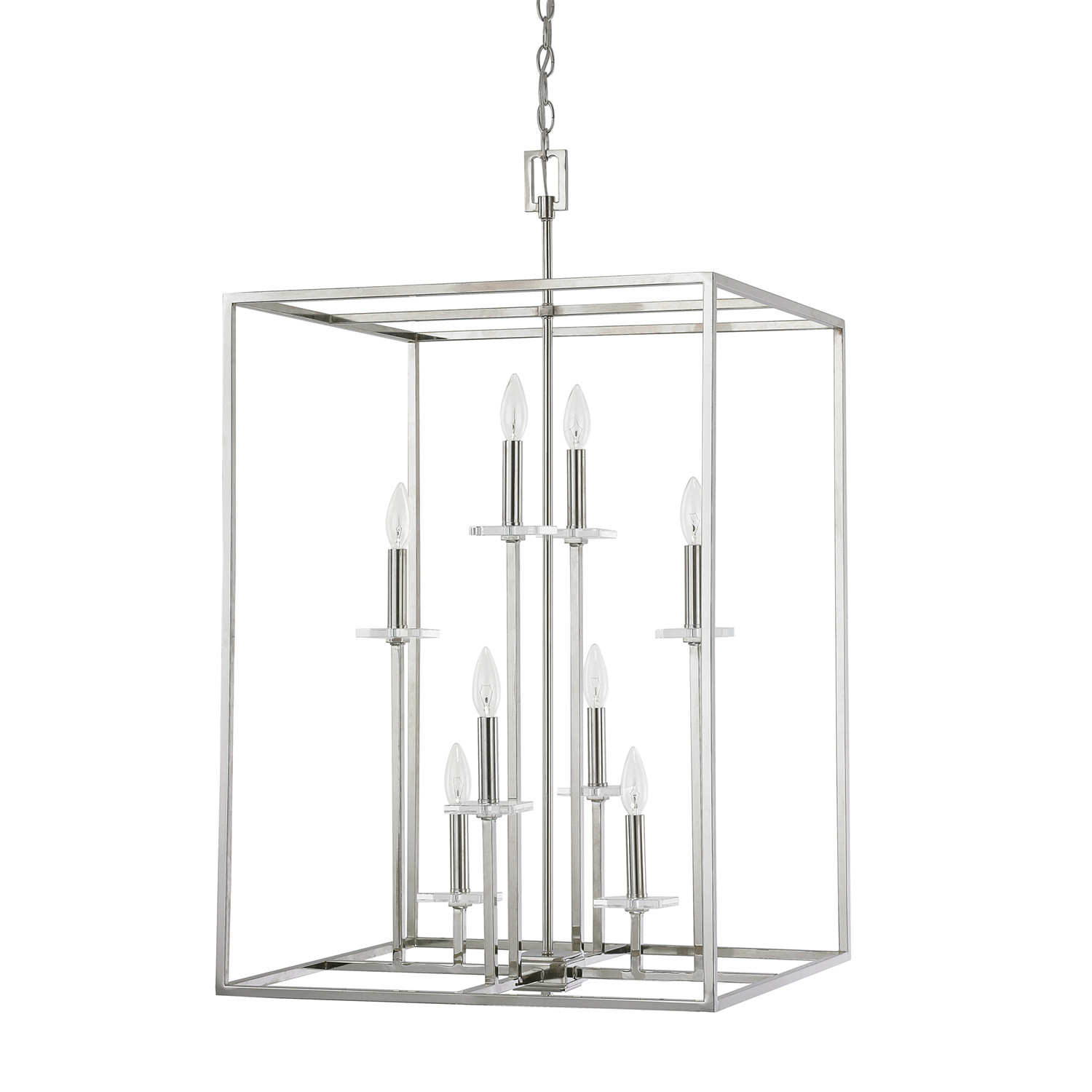 Eight Light Foyer Fixture from the Morgan collection by Capital Lighting 7003PN