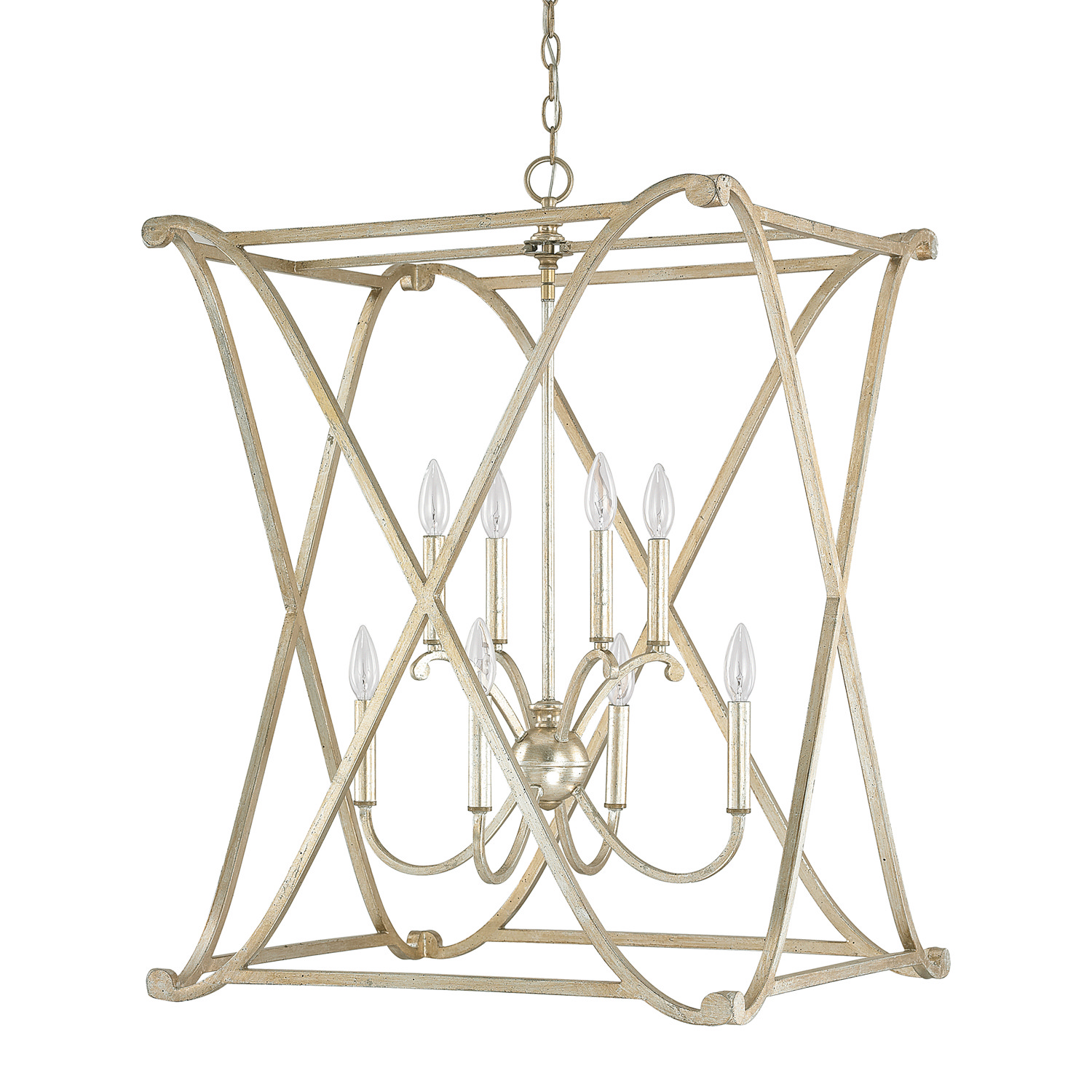Eight Light Foyer Fixture from the Alexander collection by Capital Lighting 9693WG