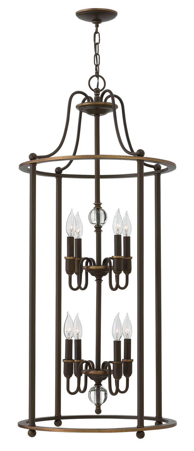 Eight Light Foyer Pendant from the Elaine collection by Hinkley 4358LZ