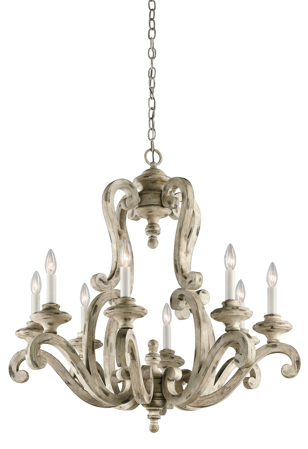 Eight Light Chandelier from the Hayman Bay collection by Kichler 43265DAW