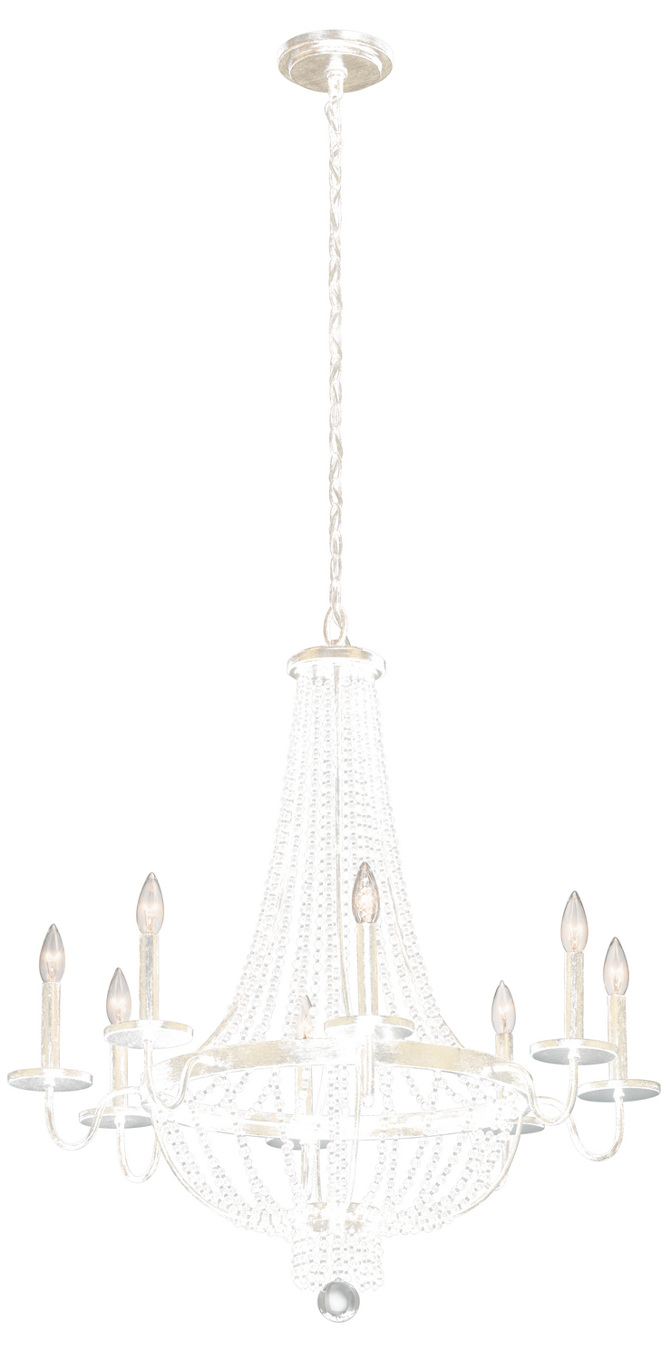 Eight Light Chandelier from the Birkdale collection by Kichler 43812SGD