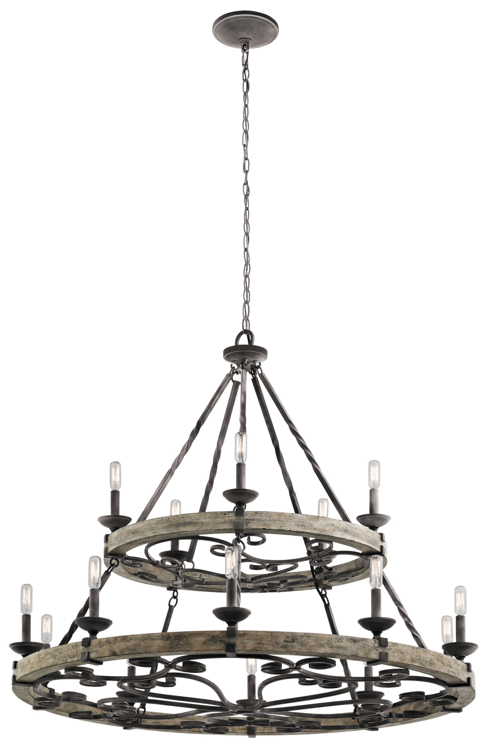 15 Light Chandelier from the Taulbee collection by Kichler 43826WZC