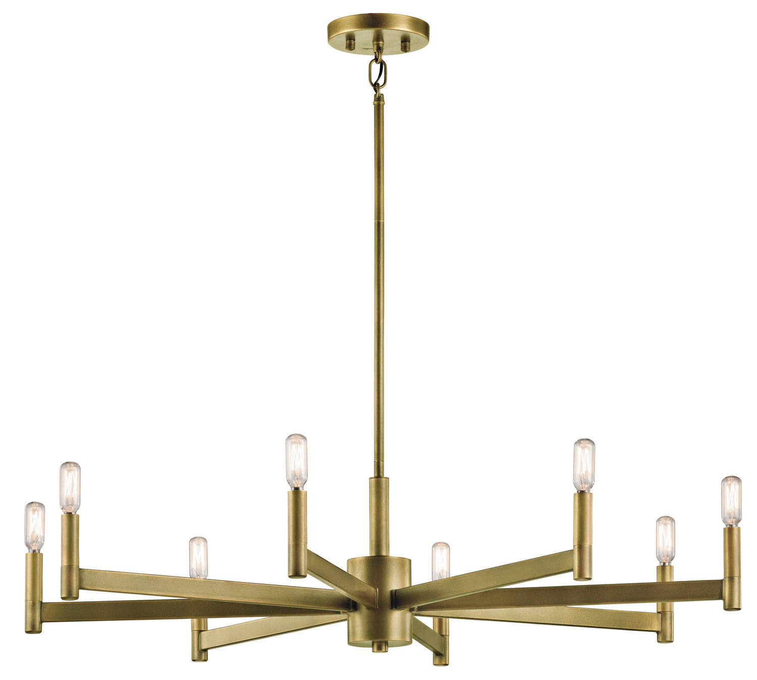 Eight Light Chandelier from the Erzo collection by Kichler 43857NBR