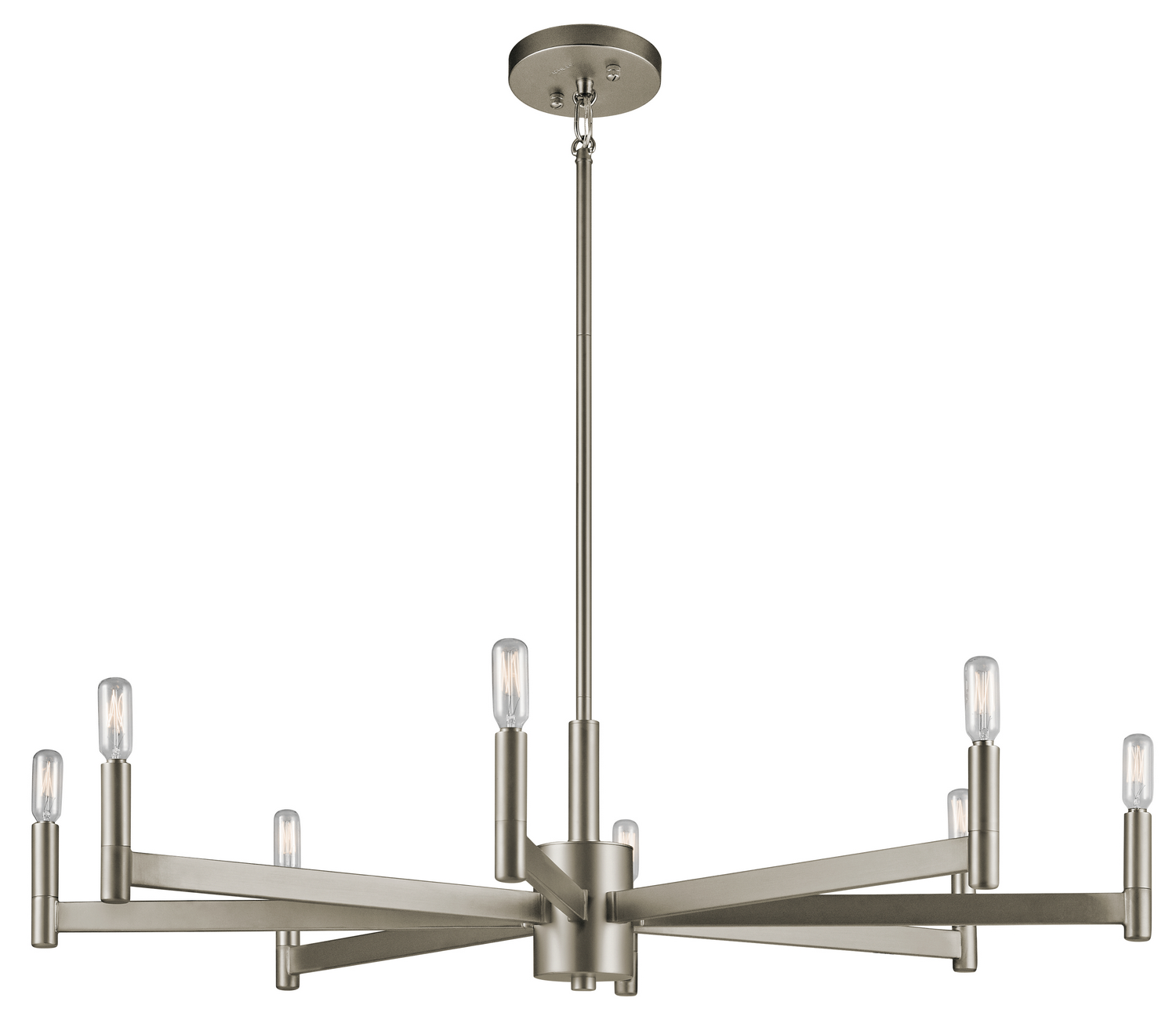 Eight Light Chandelier from the Erzo collection by Kichler 43857SN