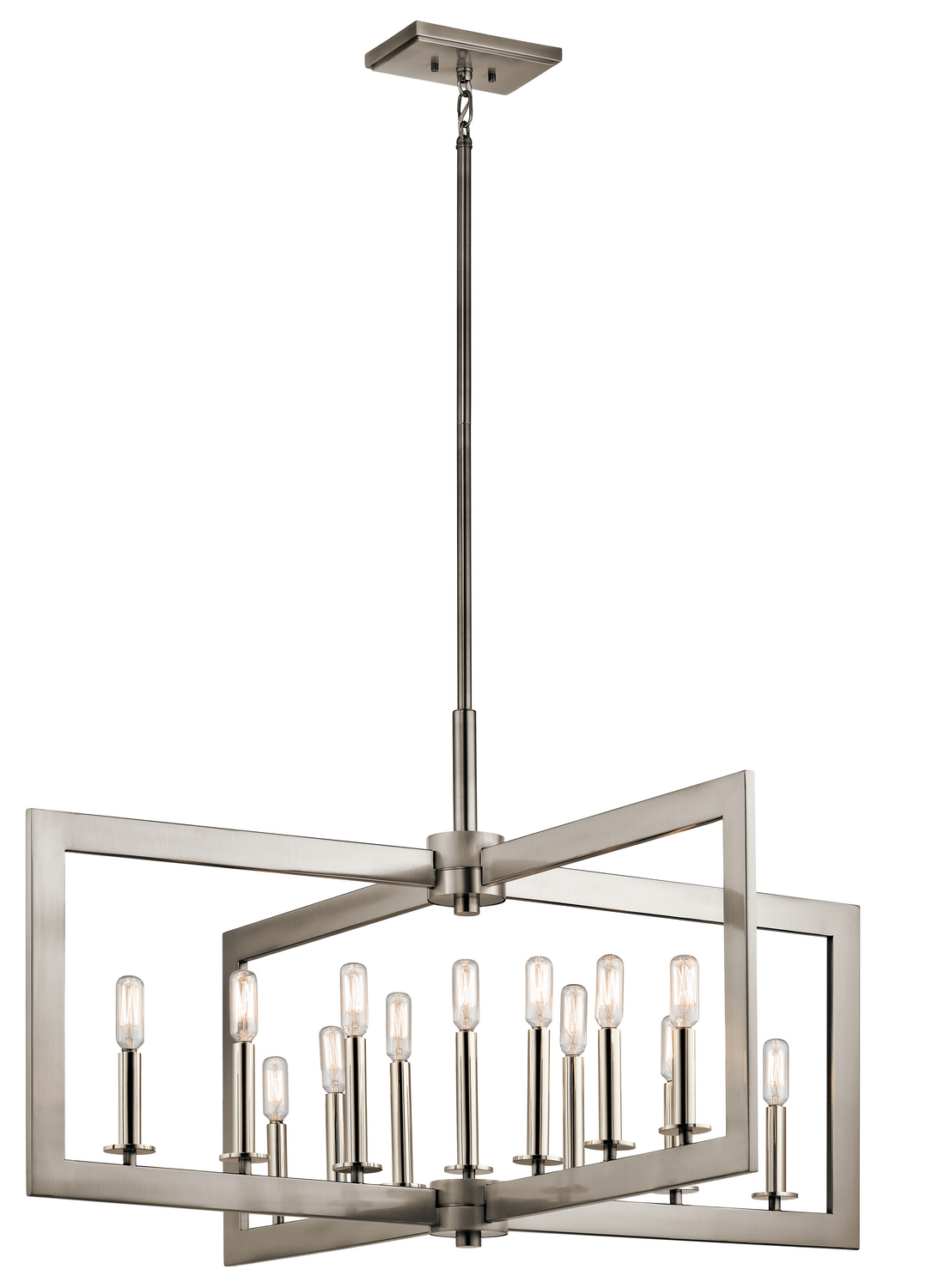 13 Light Linear Chandelier from the Cullen collection by Kichler 43901CLP