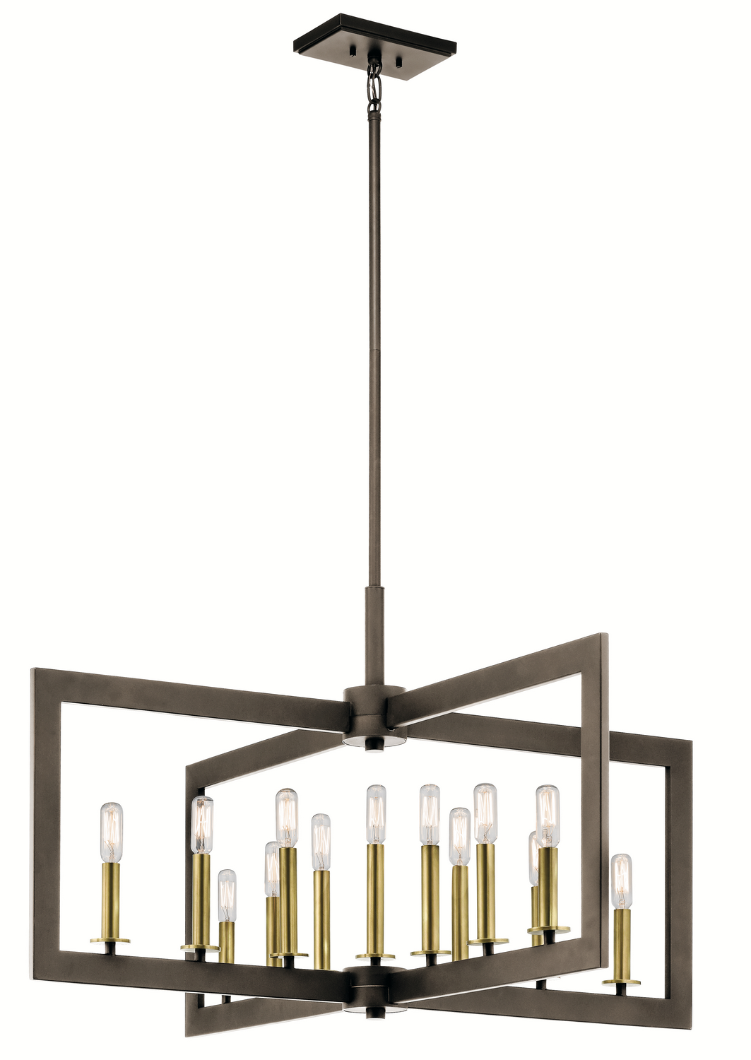 13 Light Linear Chandelier from the Cullen collection by Kichler 43901OZ