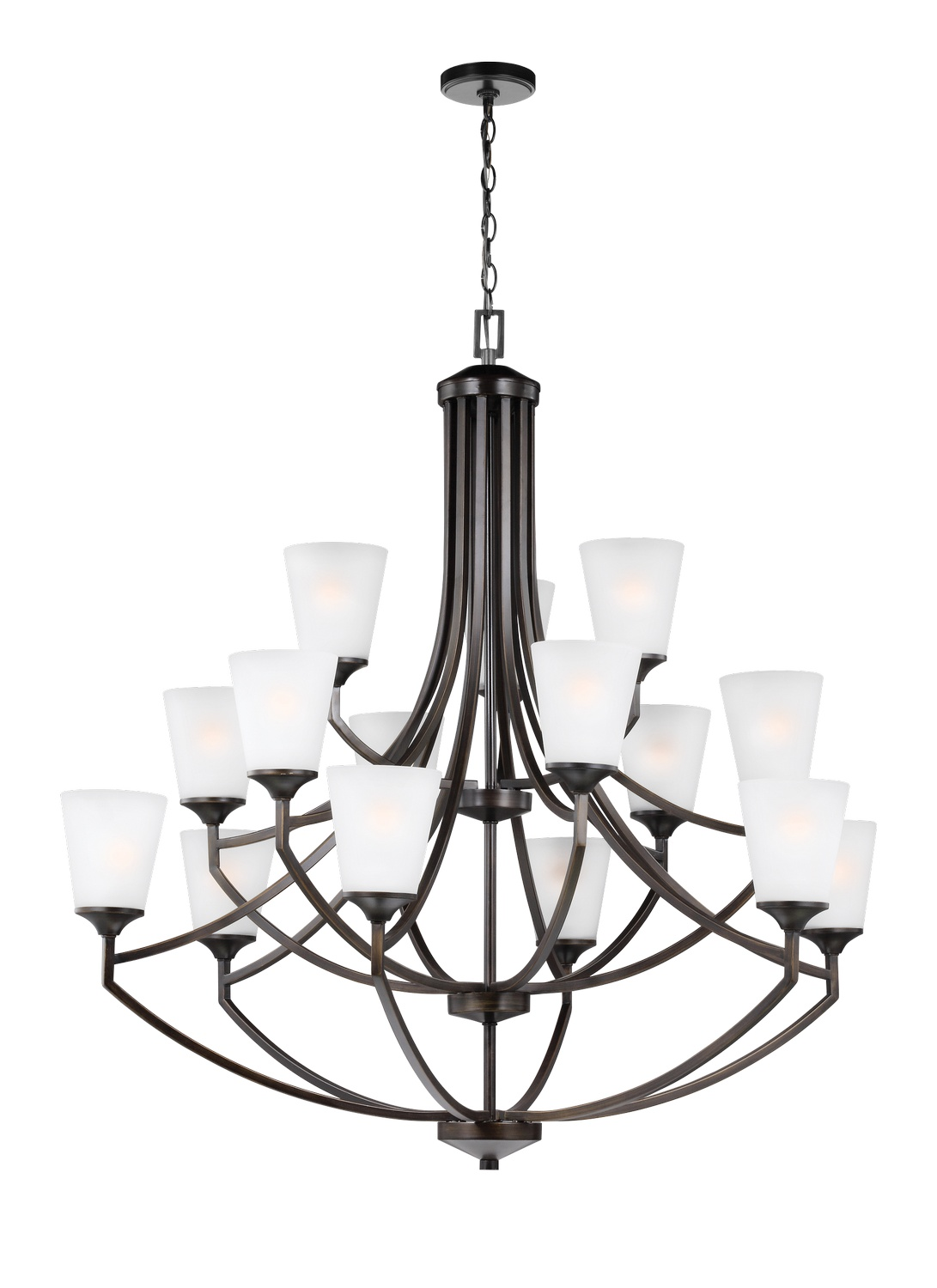 15 Light Chandelier from the Hanford collection by Seagull 3124515 710