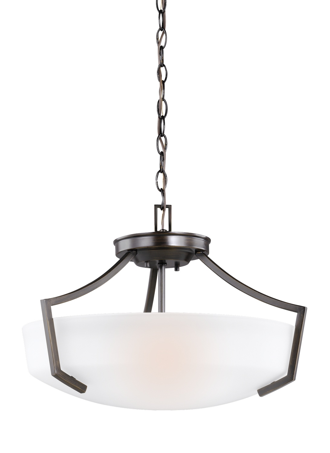 Three Light Ceiling Convertible Pendant