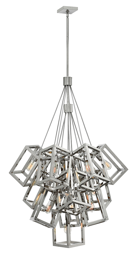 13 Light Foyer Pendant from the Ensemble collection by Fredrick Ramond FR42449PNI