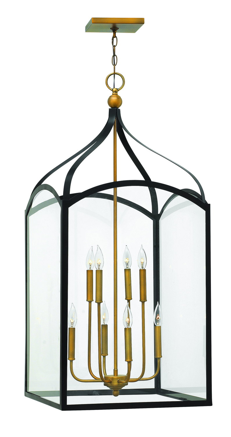Eight Light Foyer Pendant from the Clarendon collection by Hinkley 3418BZ