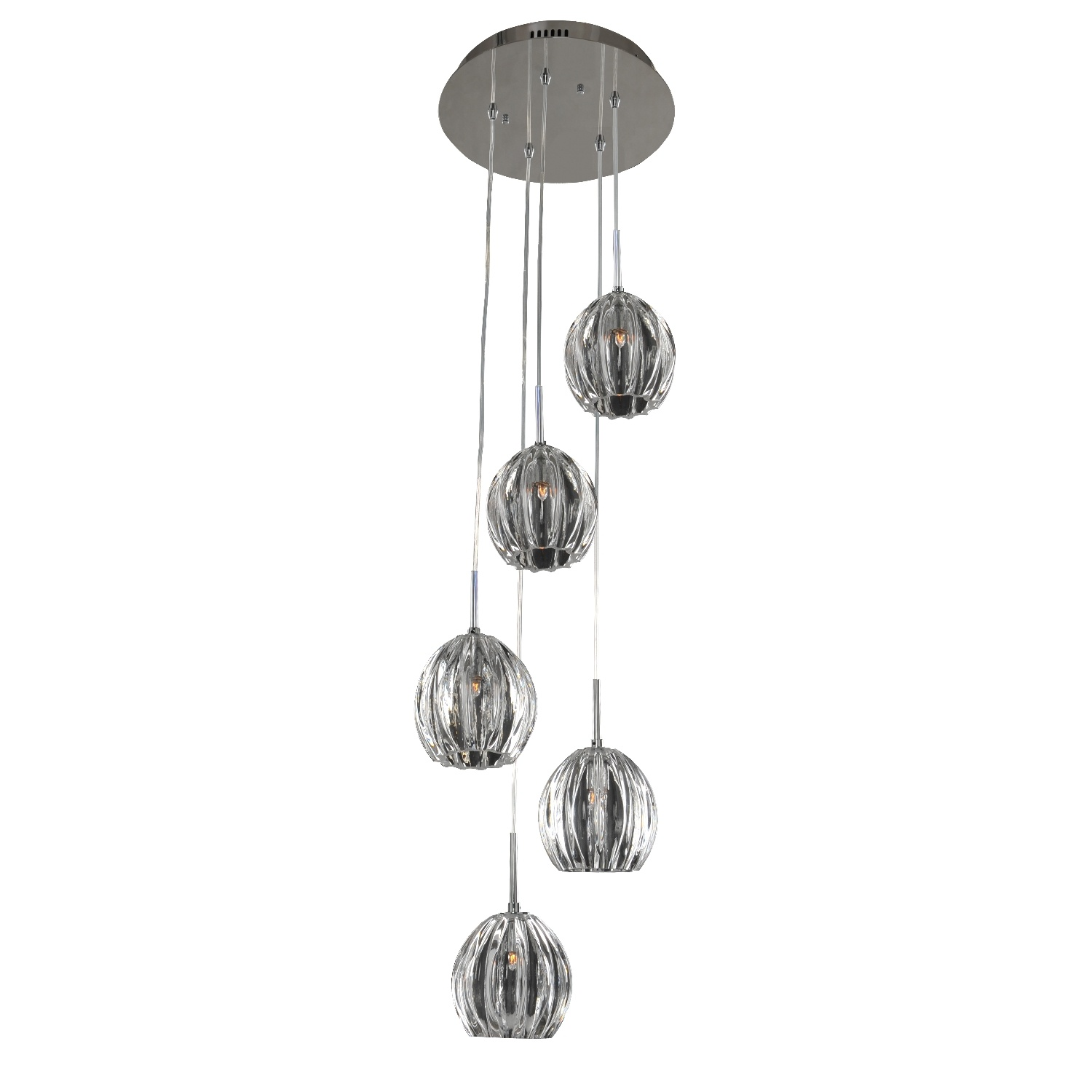 Five Light Pendant from the Viceroy collection by Kalco 7