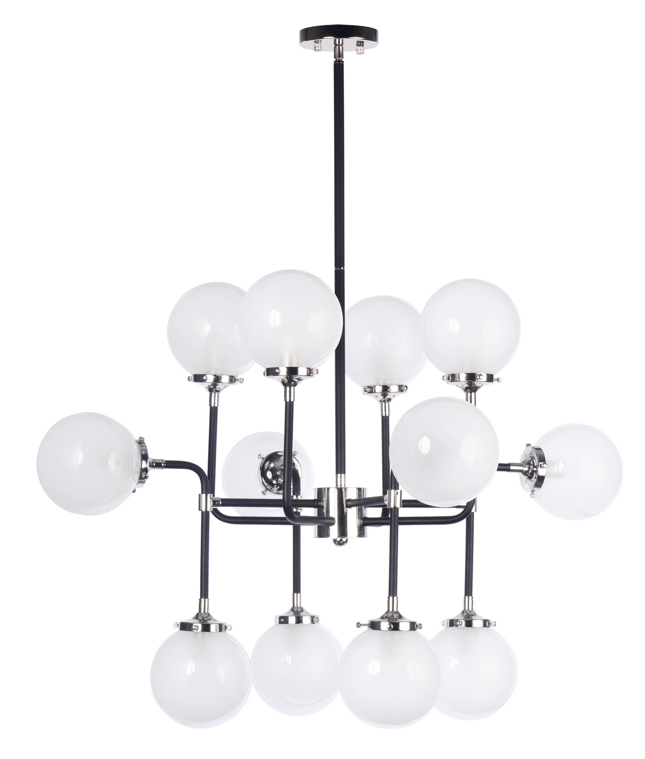 12 Light Pendant from the Atom collection by Maxim 24727WTBKPN