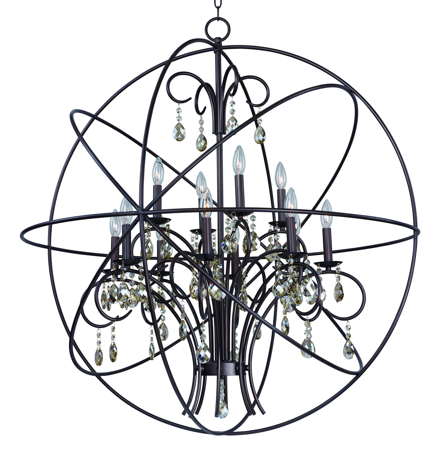 12 Light Pendant from the Orbit collection by Maxim 25147OI