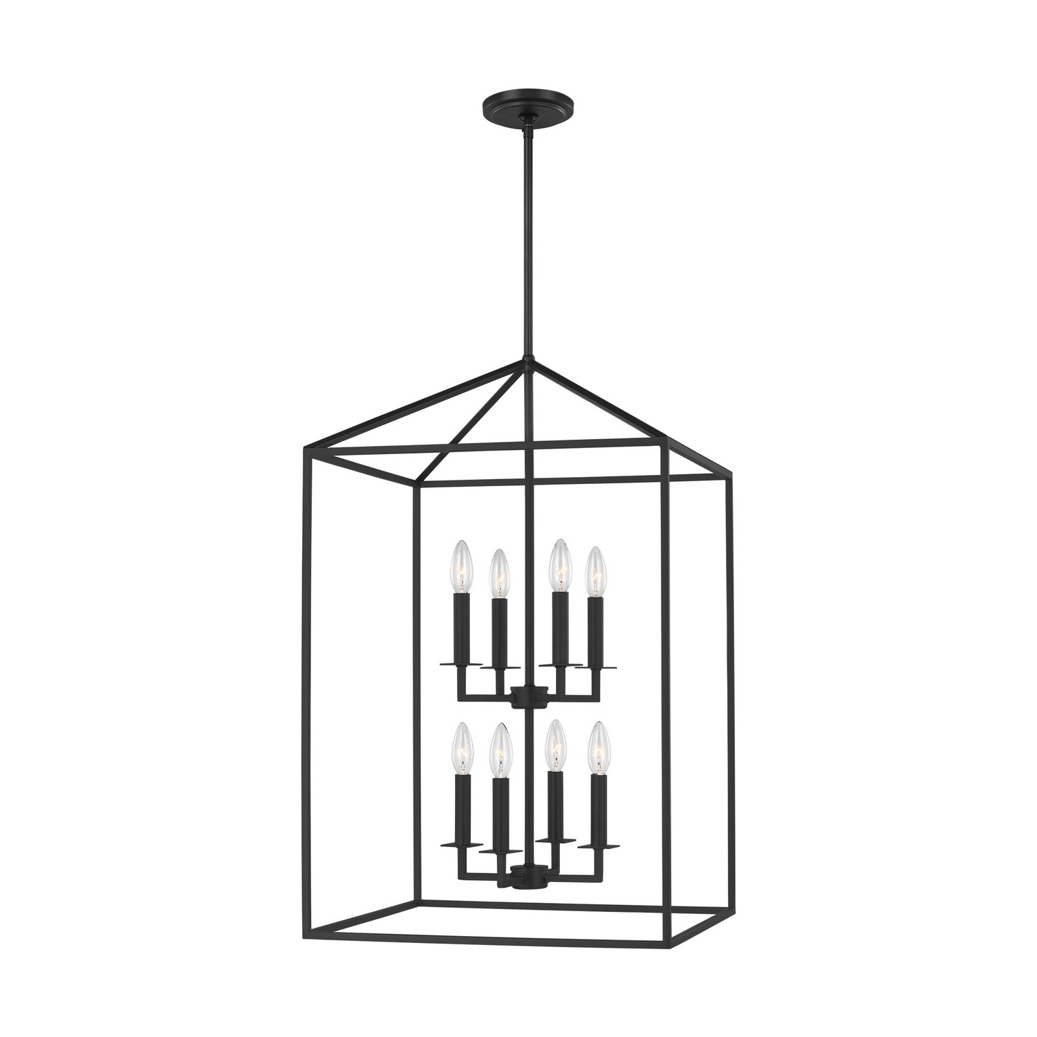 Eight Light Foyer Pendant from the Perryton collection by Seagull 5115008EN 839