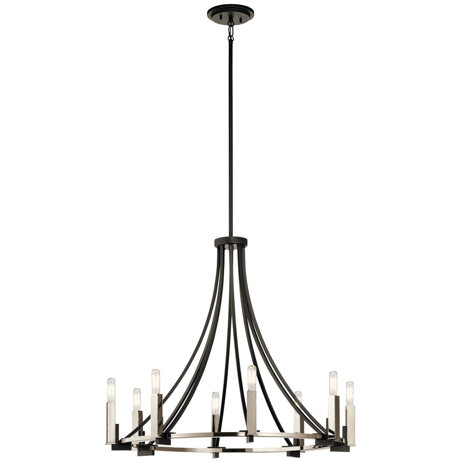 Eight Light Chandelier from the Bensimone collection by Kichler 43291BK