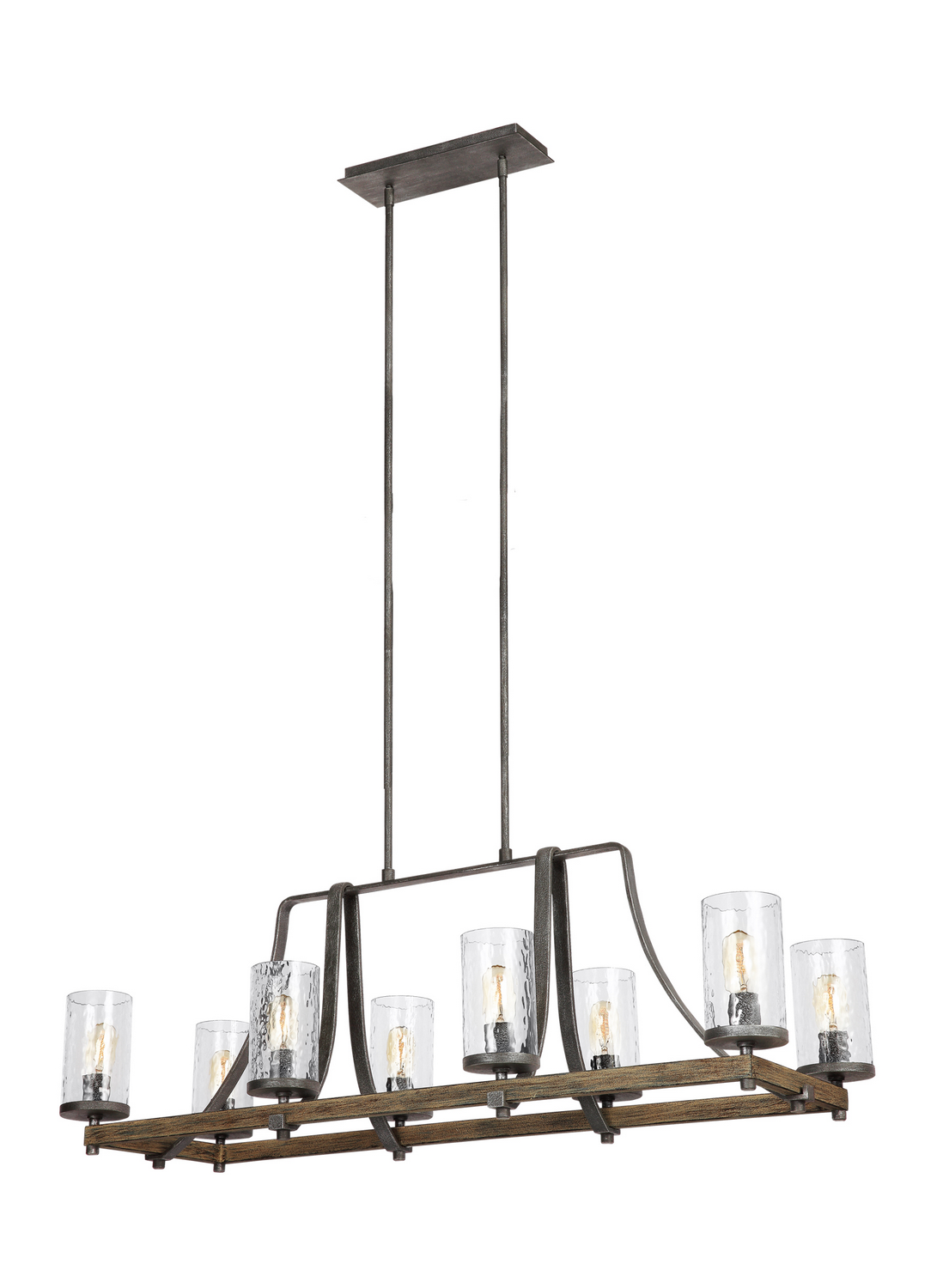 Eight Light Island Chandelier from the Angelo collection by Feiss F31368DWKSGM