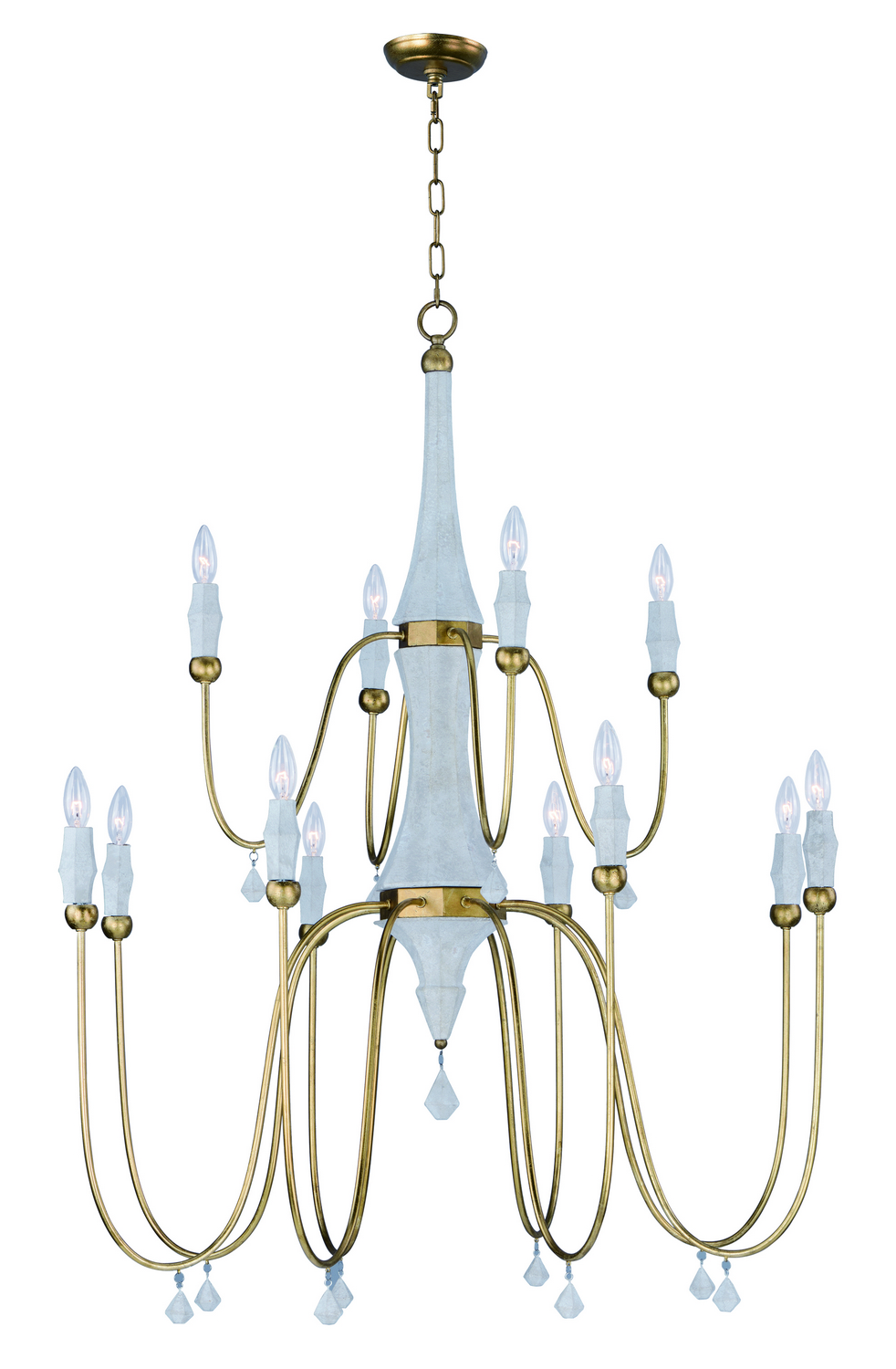 12 Light Chandelier from the Claymore collection by Maxim 22438CSTGL