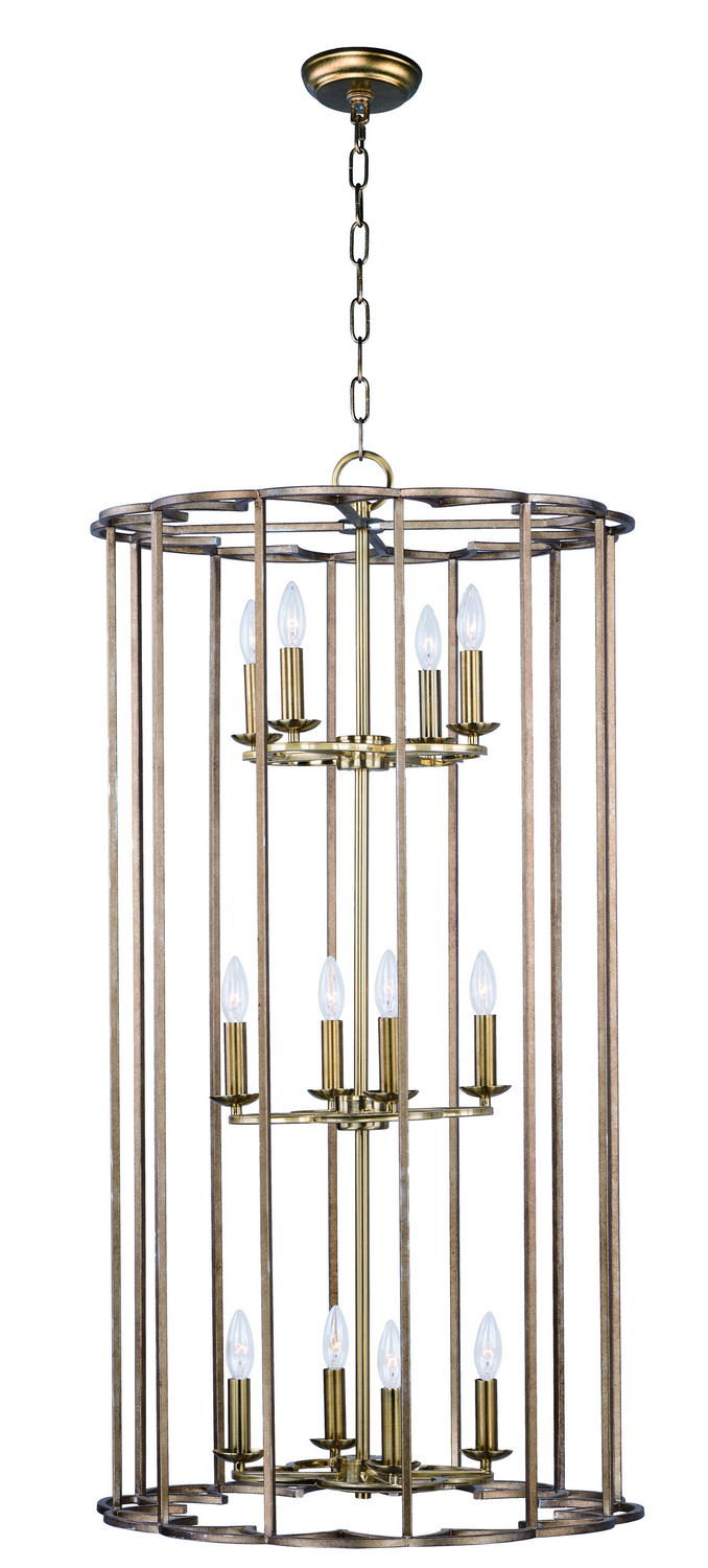 12 Light Pendant from the Helix collection by Maxim 24738BZF