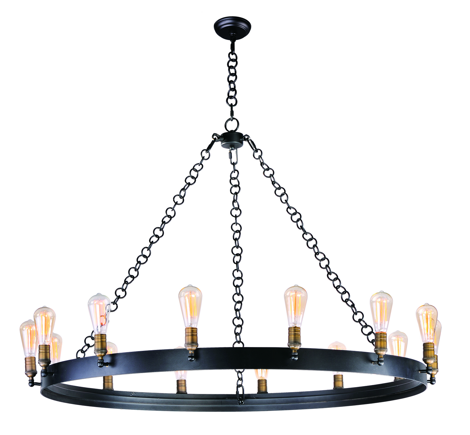 14 Light Chandelier from the Noble collection by Maxim 26276BKNAB