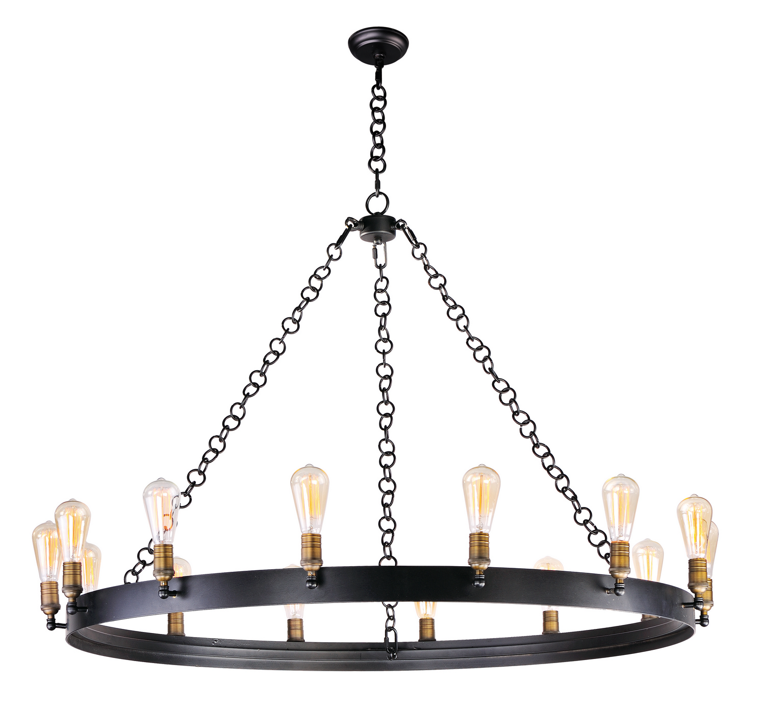 14 Light Chandelier from the Noble collection by Maxim 26276BKNABBUI