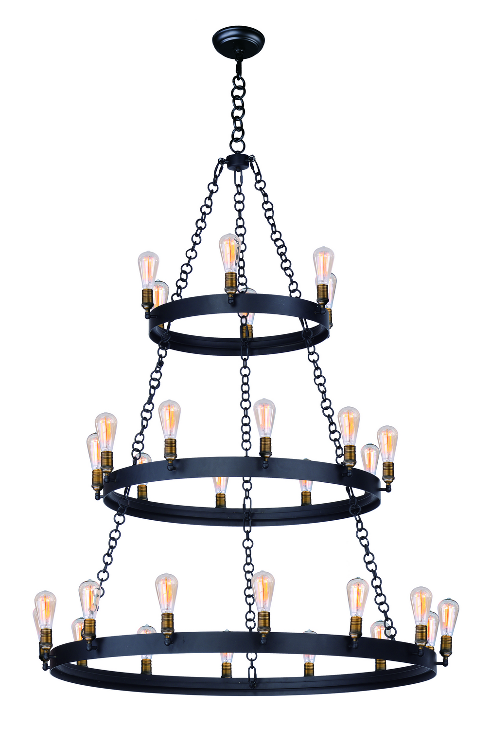 30 Light Chandelier from the Noble collection by Maxim 26278BKNAB