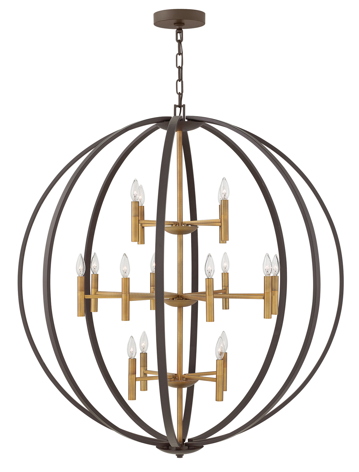 16 Light Chandelier from the Euclid collection by Hinkley 3464SB