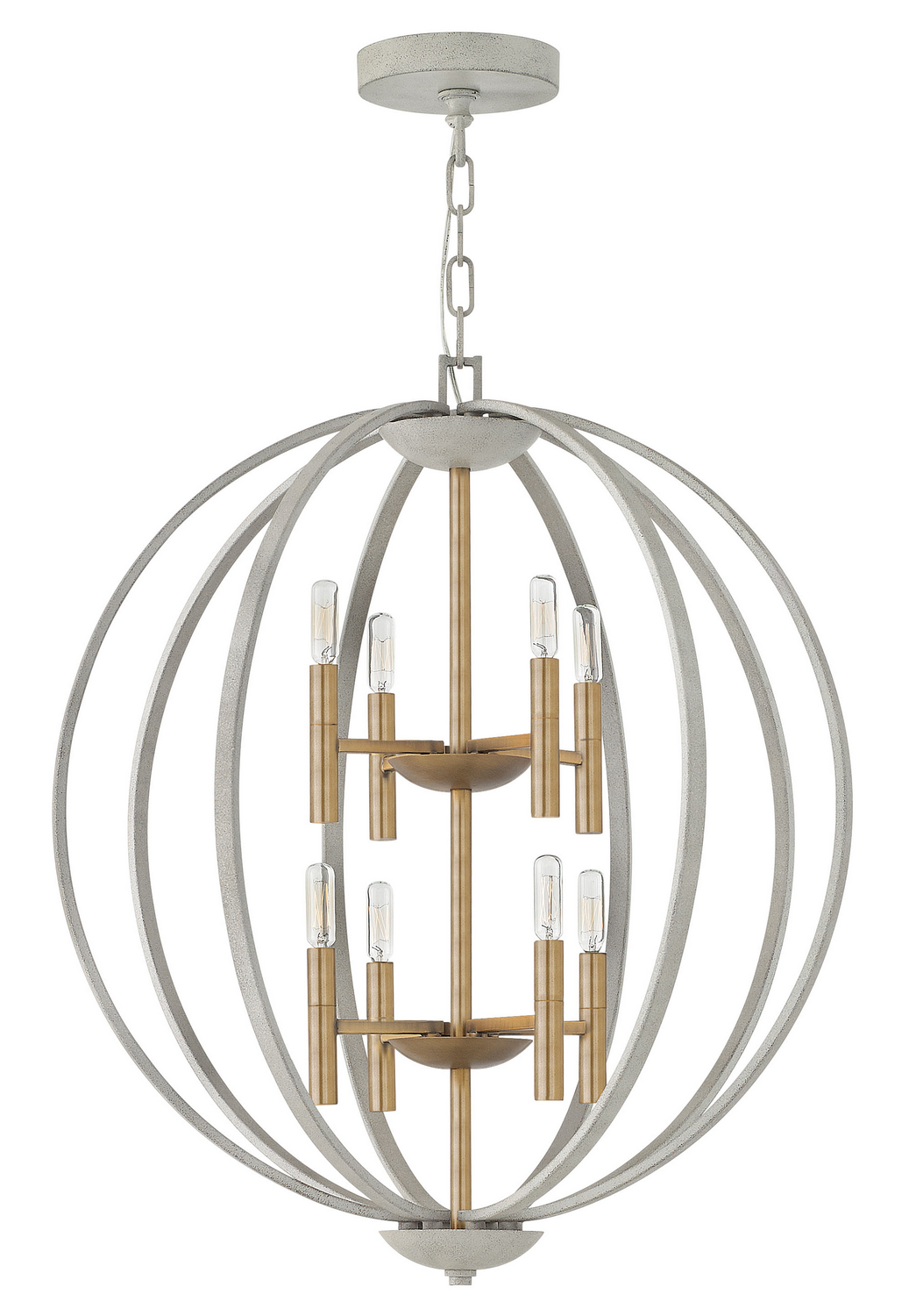 Eight Light Foyer Pendant from the Euclid collection by Hinkley 3468CG