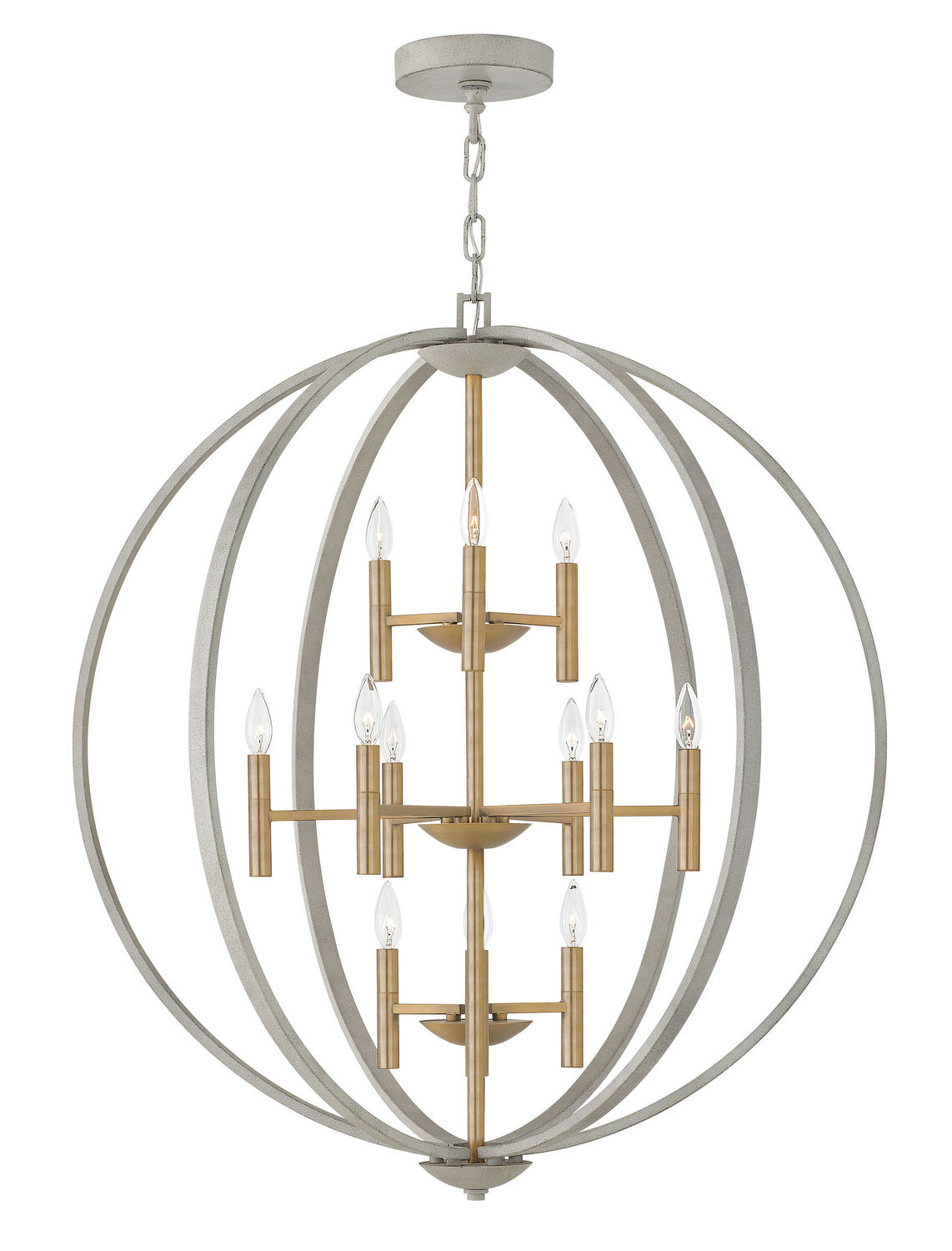 12 Light Foyer Pendant from the Euclid collection by Hinkley 3469CG