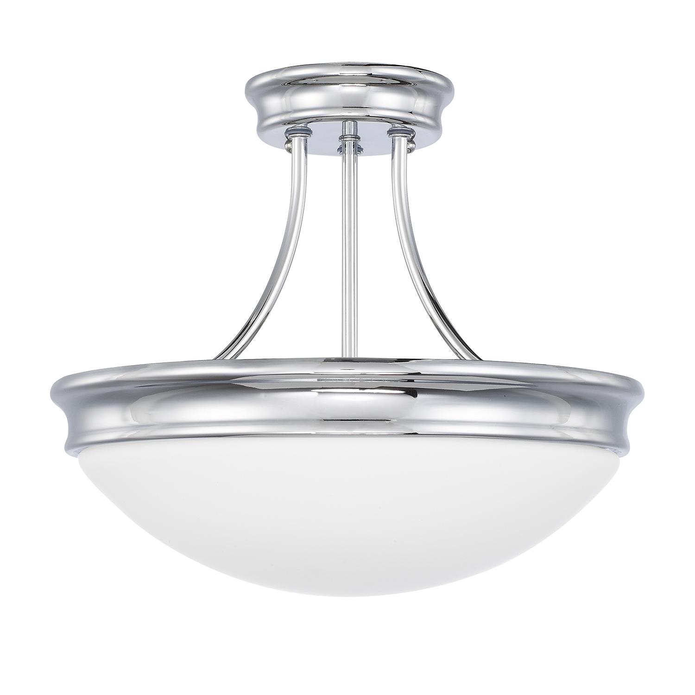 Three Light Semi-Flush