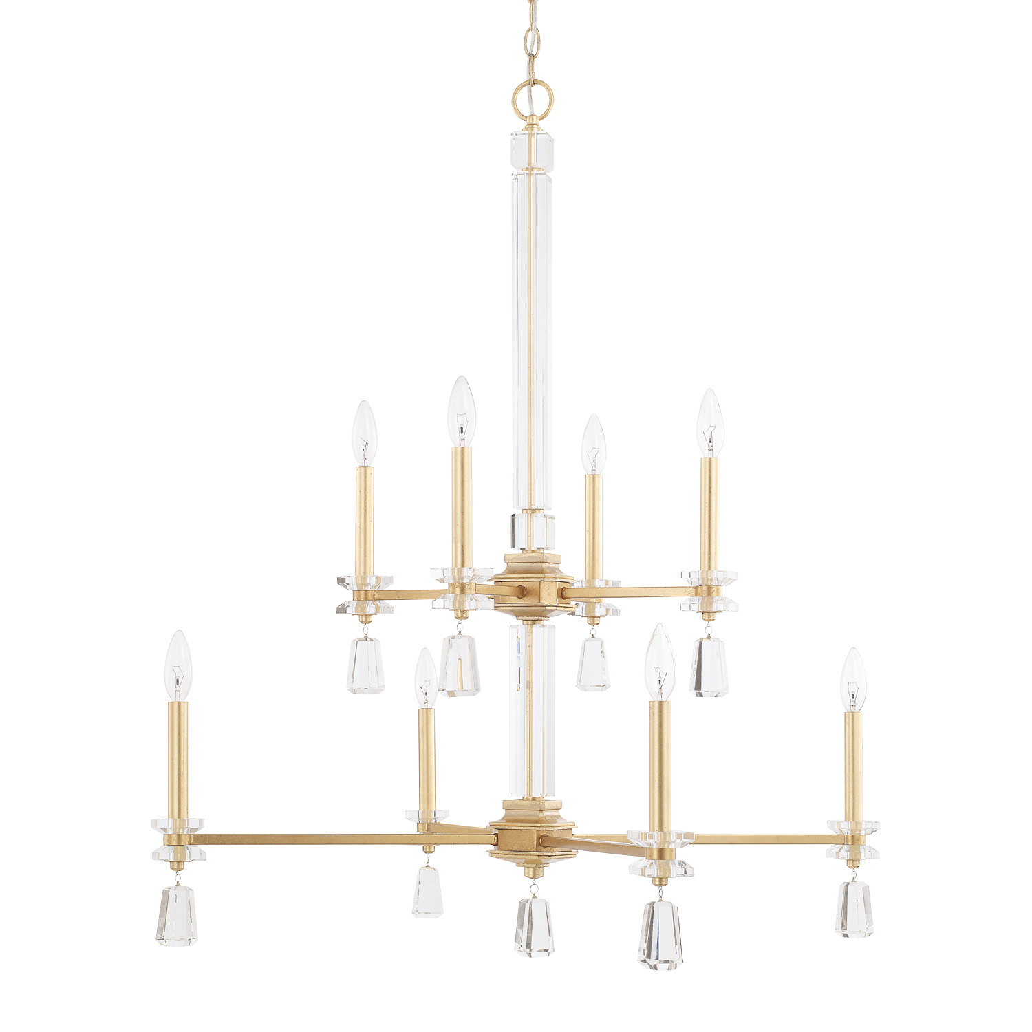 Eight Light Chandelier from the Milan collection by Capital Lighting 419781CG