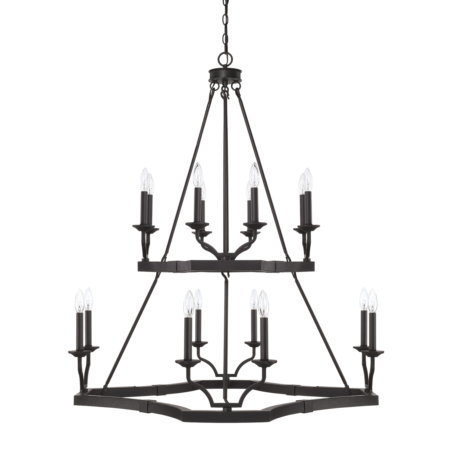 16 Light Chandelier from the Ravenwood collection by Capital Lighting 419801BI