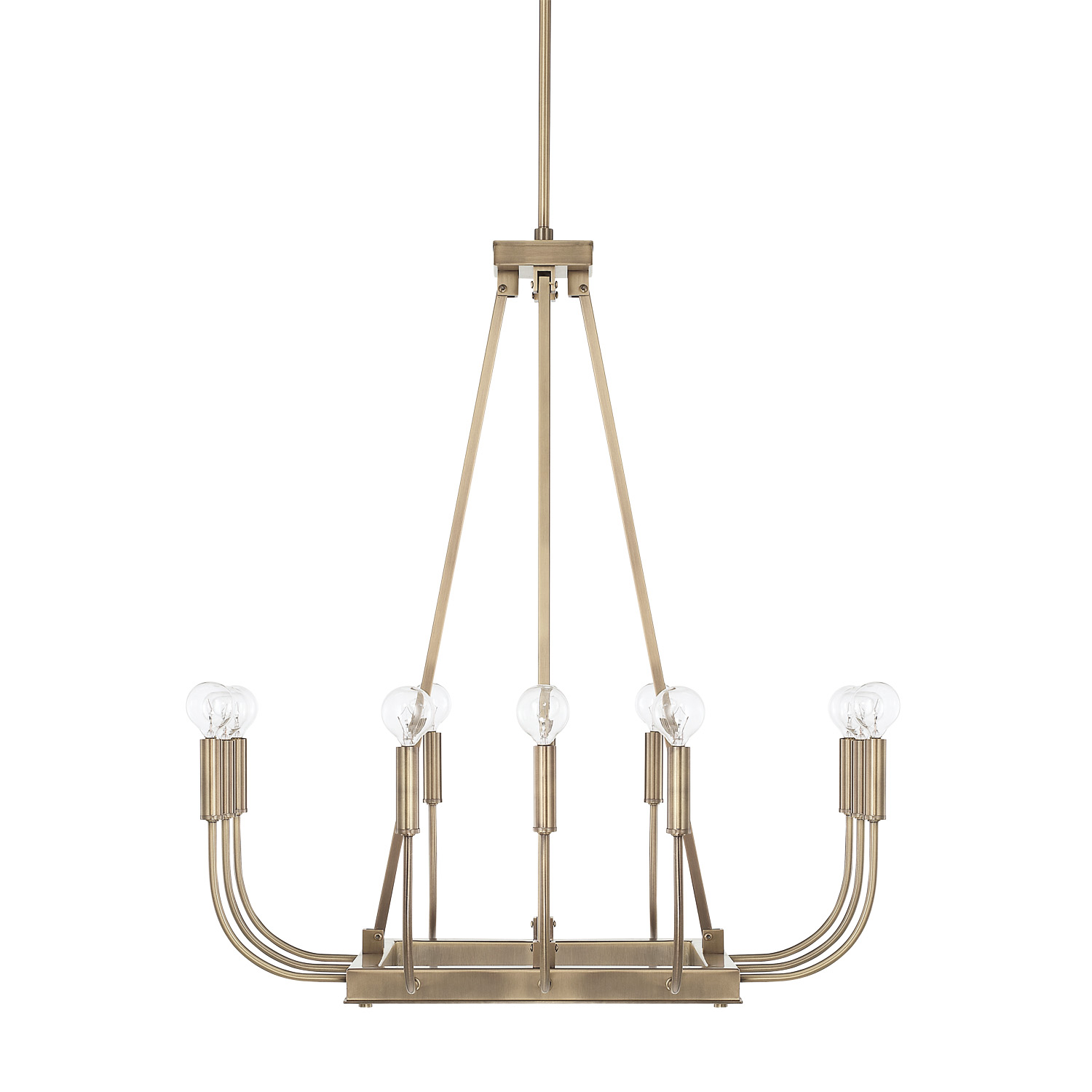 12 Light Chandelier from the Zander collection by Capital Lighting 421901AD