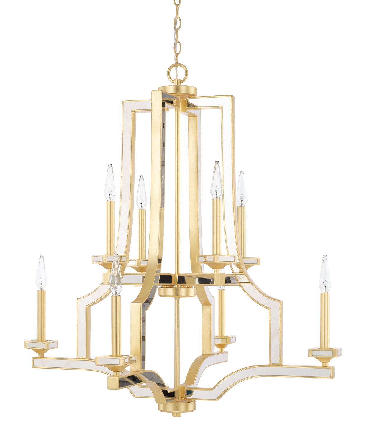 Eight Light Chandelier from the Abella collection by Capital Lighting 423081CG