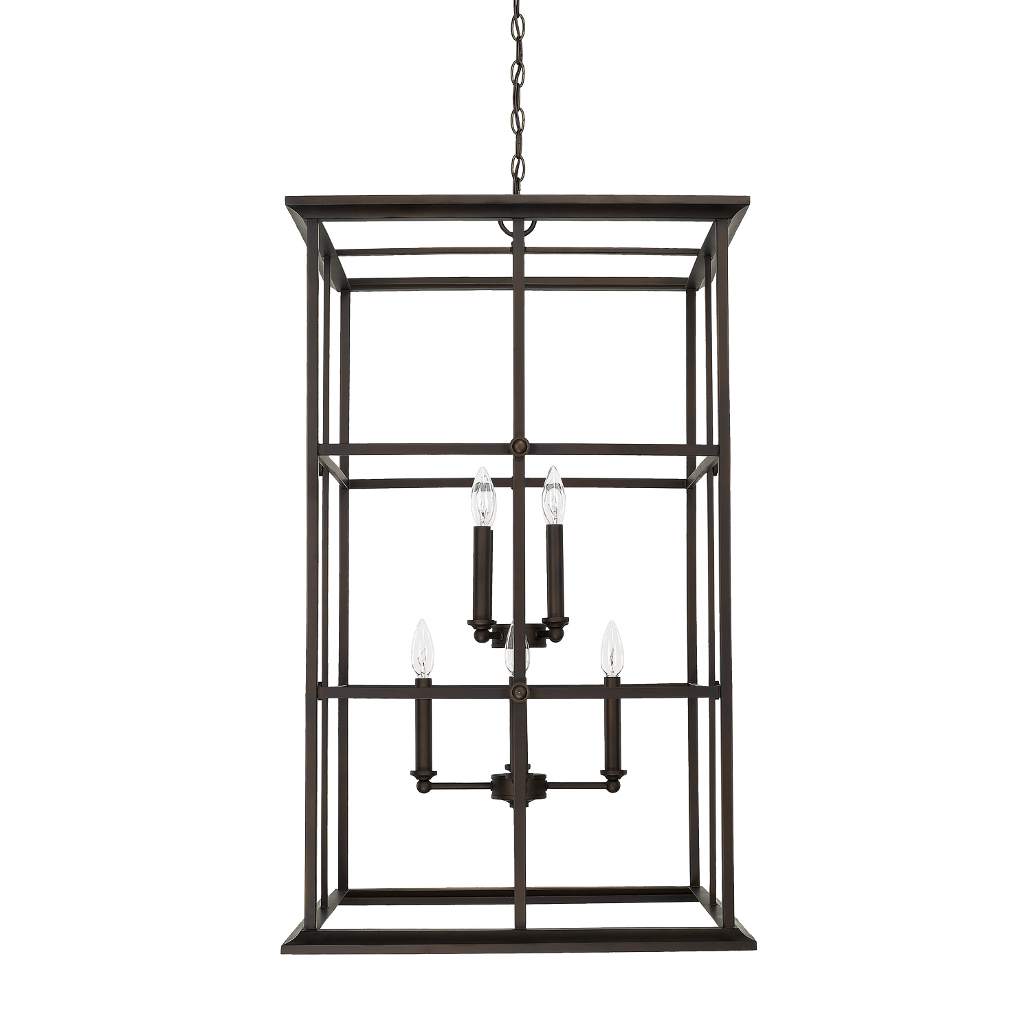 Eight Light Foyer Pendant from the West Port collection by Capital Lighting 520181OB