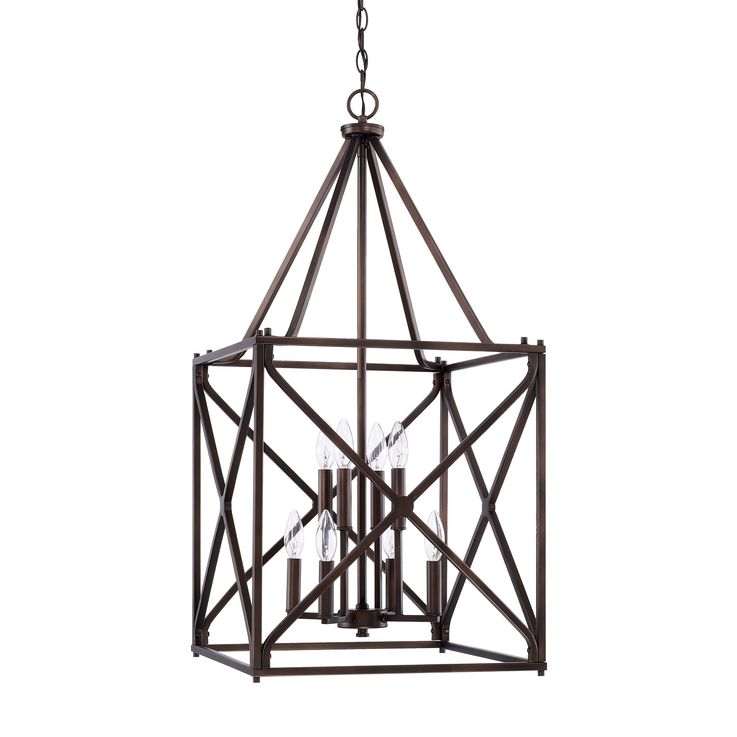Eight Light Foyer Pendant by Capital Lighting 522381BB