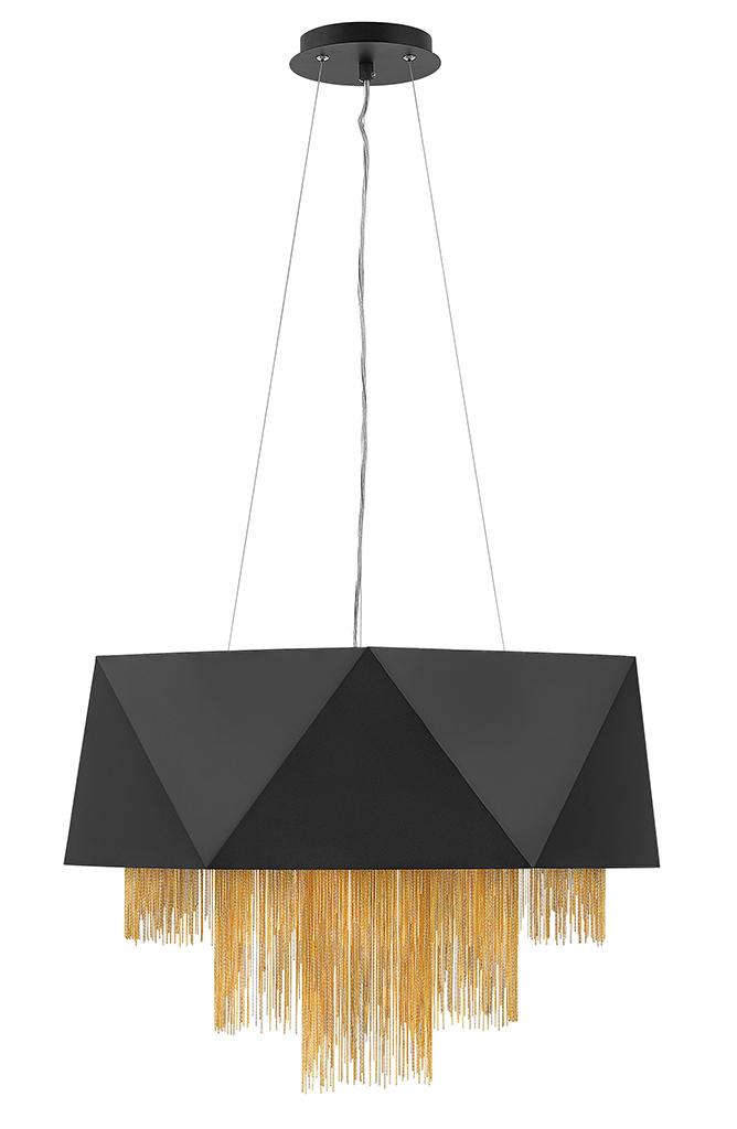 Eight Light Chandelier from the Zuma collection by Fredrick Ramond FR32805SBK