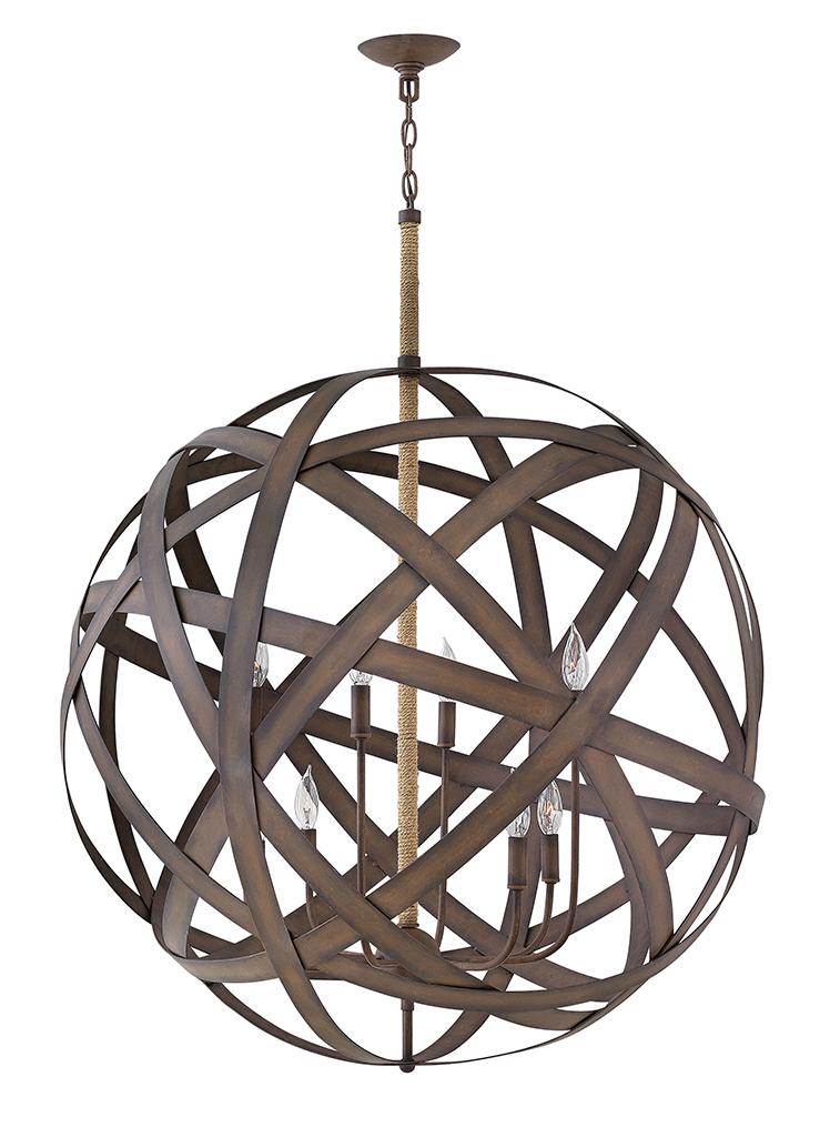 Eight Light Chandelier from the Carson collection by Fredrick Ramond FR40708VIR