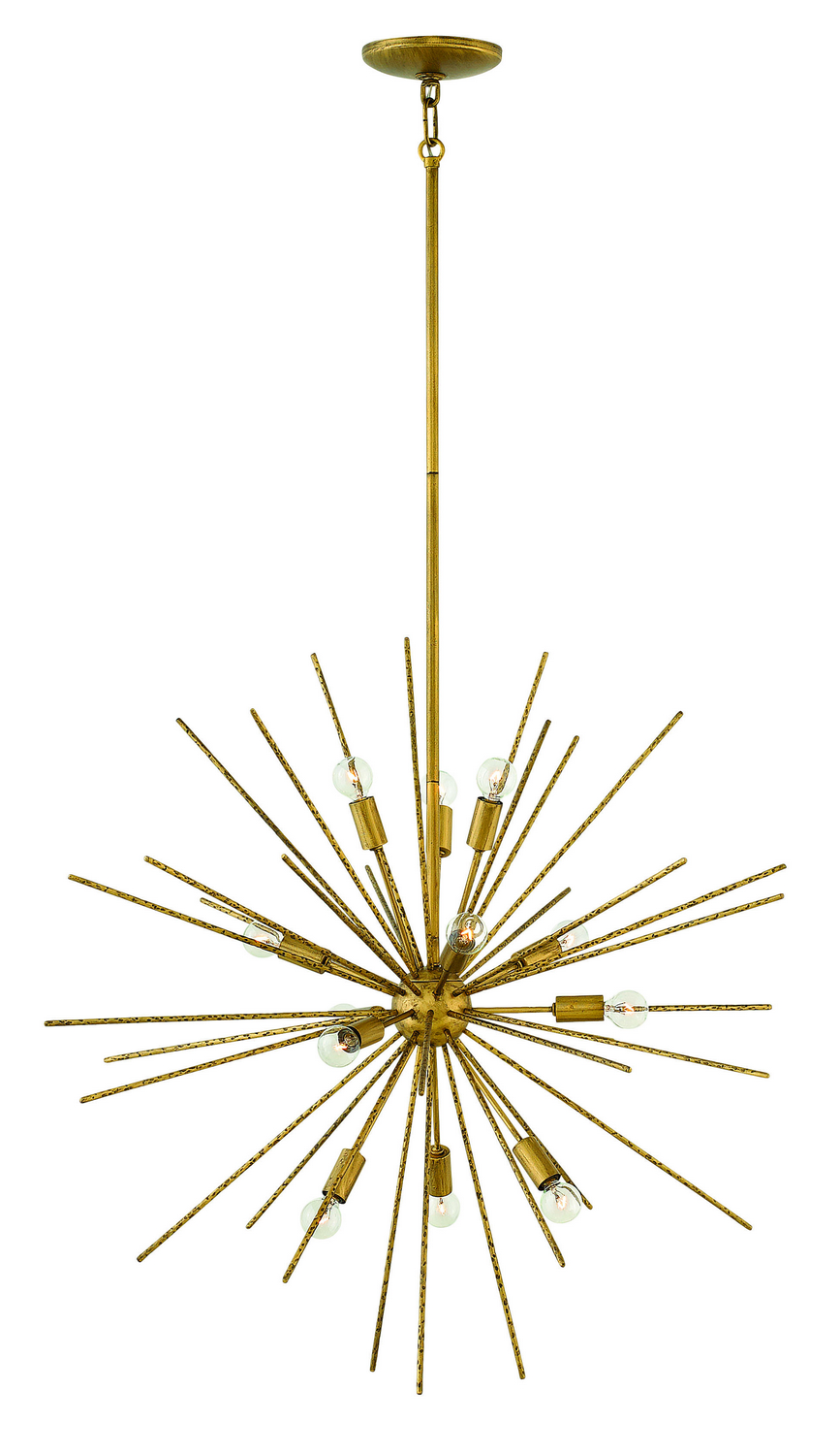 12 Light Pendant from the Tryst collection by Fredrick Ramond FR43015HBZ