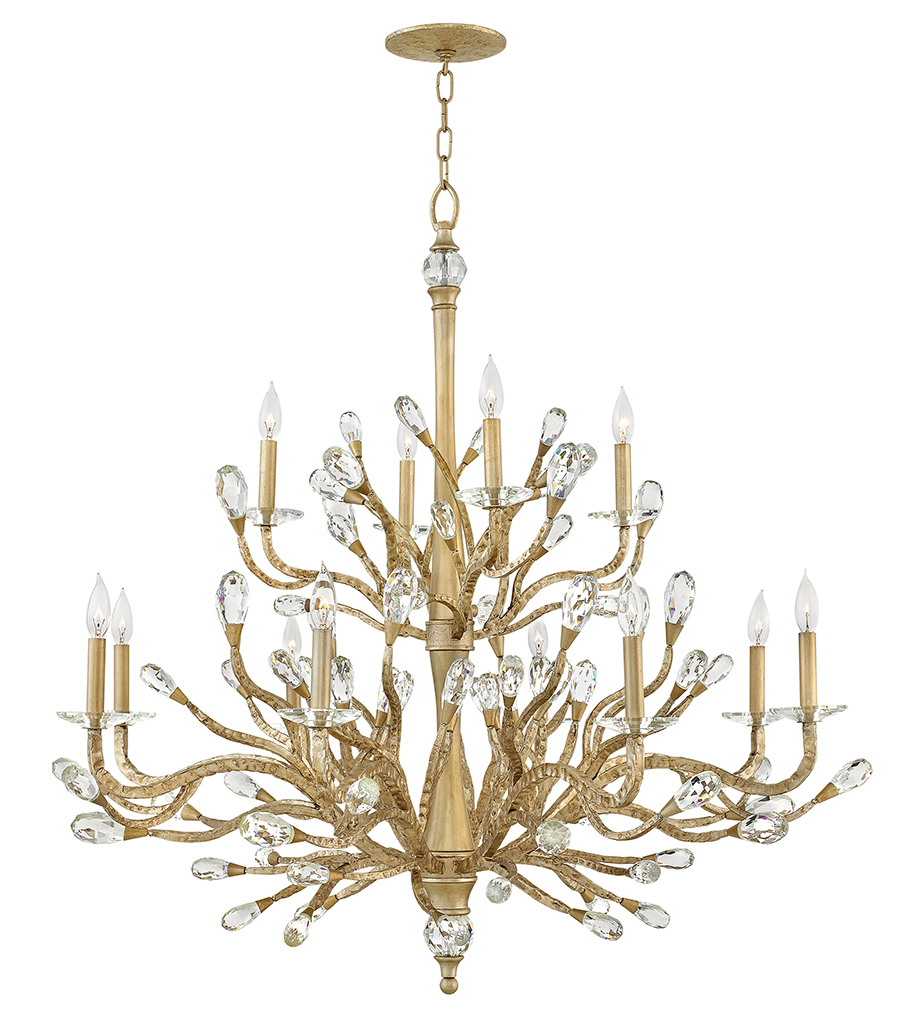 12 Light Foyer Pendant from the Eve collection by Fredrick Ramond FR46810CPG